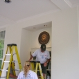 Day of on-site work performed to install the Great Seal at the White House.