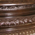 This is a close-up view showing the richness of color on the cast bronze & the detail of the craftsmanship by the old masters.