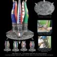 PBR Global Cup - Cast Stainless Steel inset with Precious stones