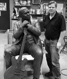 B.B. King Memorial Sculpture