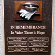 A relieft sculptured memorial bronze lost wax and sand cast plaque honoring the fallen of the Reading, PA Police department